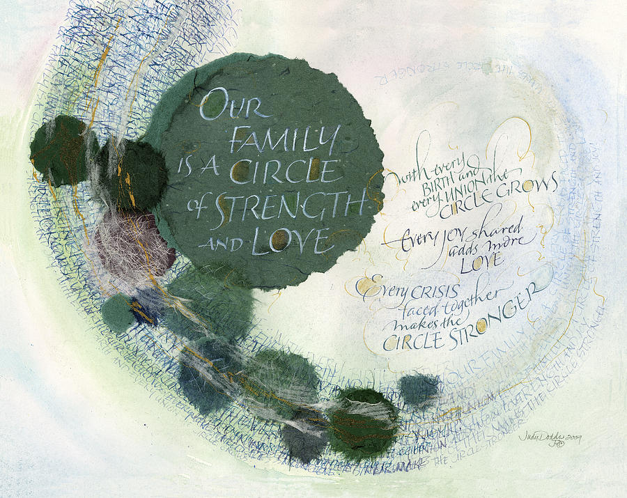 Adoption Painting - Family Circle by Judy Dodds