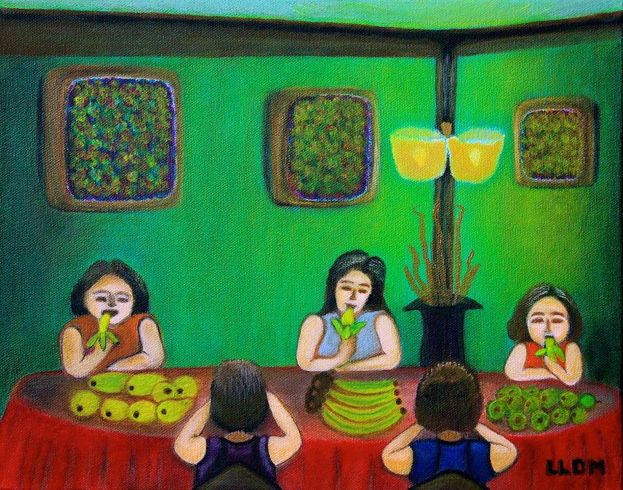 Family Dinner Painting