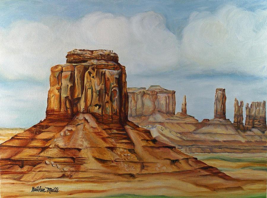 Landscape Painting - Family Gathering by Gretchen Matta