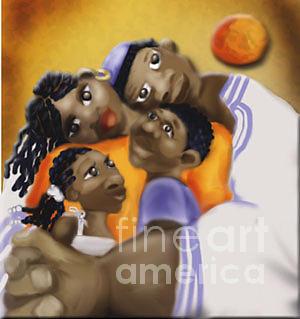 Hug Digital Art - Family Hug by Grenette Gillespie