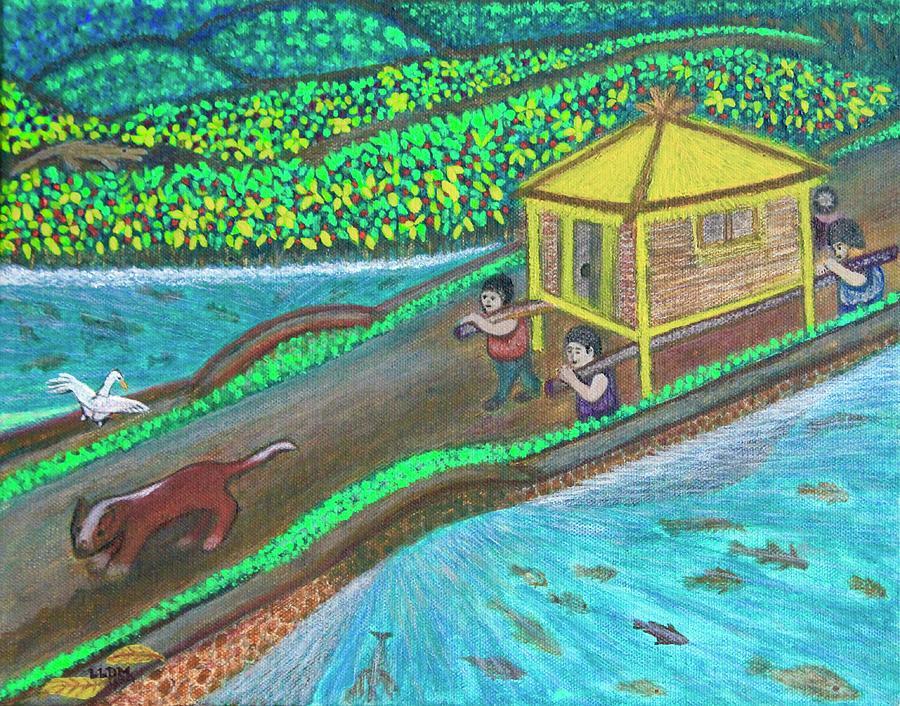 Family Hut Painting