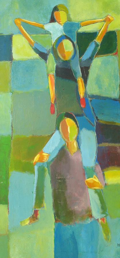 Abstract Painting - Family Joy by Habib Ayat