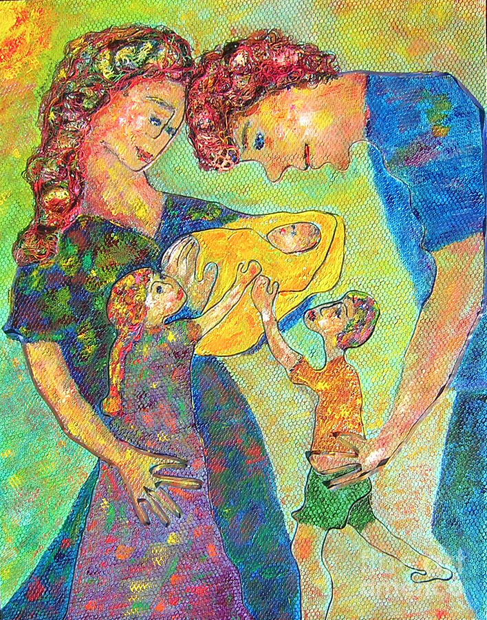 Figurative Painting - Family Matters by Naomi Gerrard