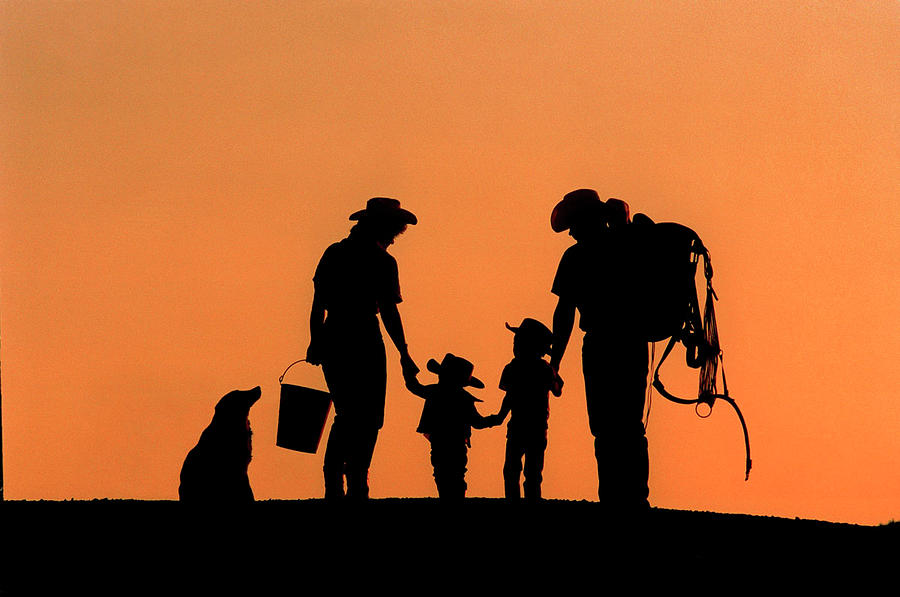 Silhouette Photograph - Family Of The West by Ruth Eich
