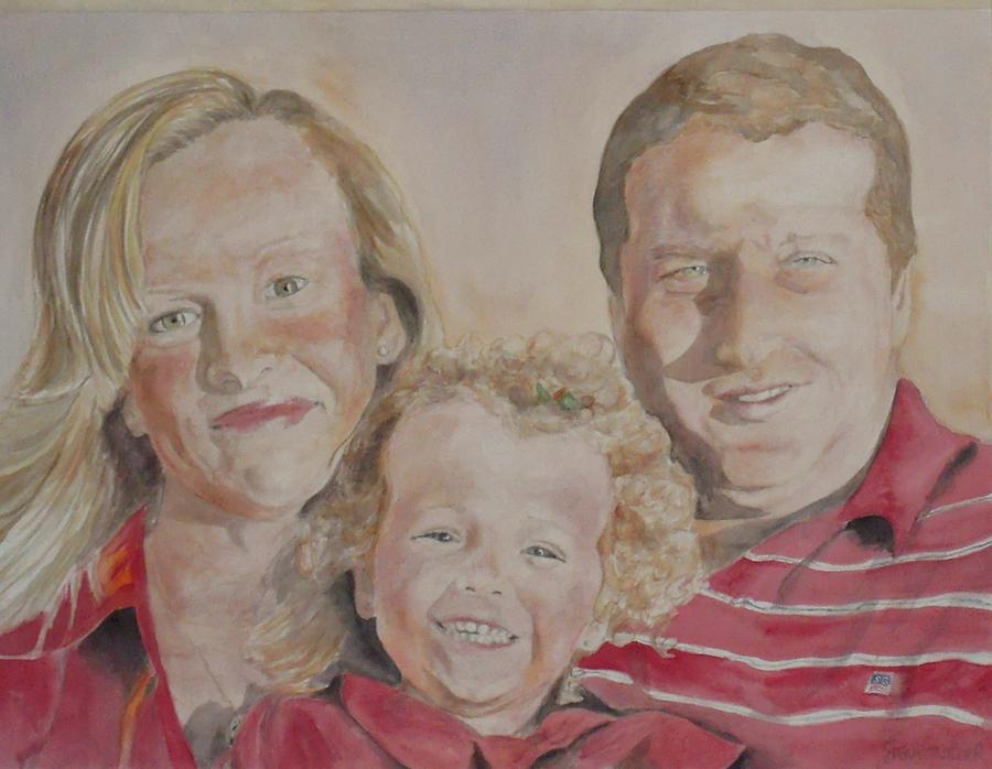 Family Painting - family Portrait by Susan Gauthier