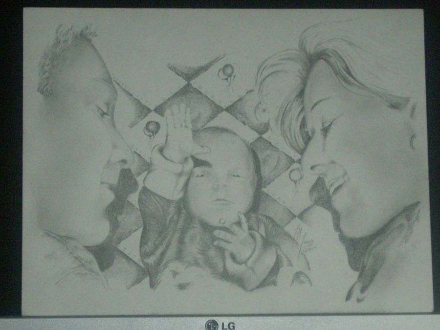 Family Portraites Drawing by Jeff Jones
