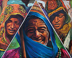 Family Pyramid Painting by Wendell Wiggins
