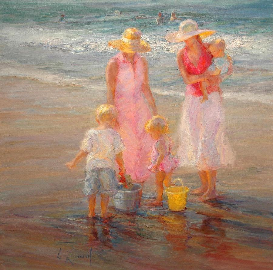 Family Time Painting By Diane Leonard