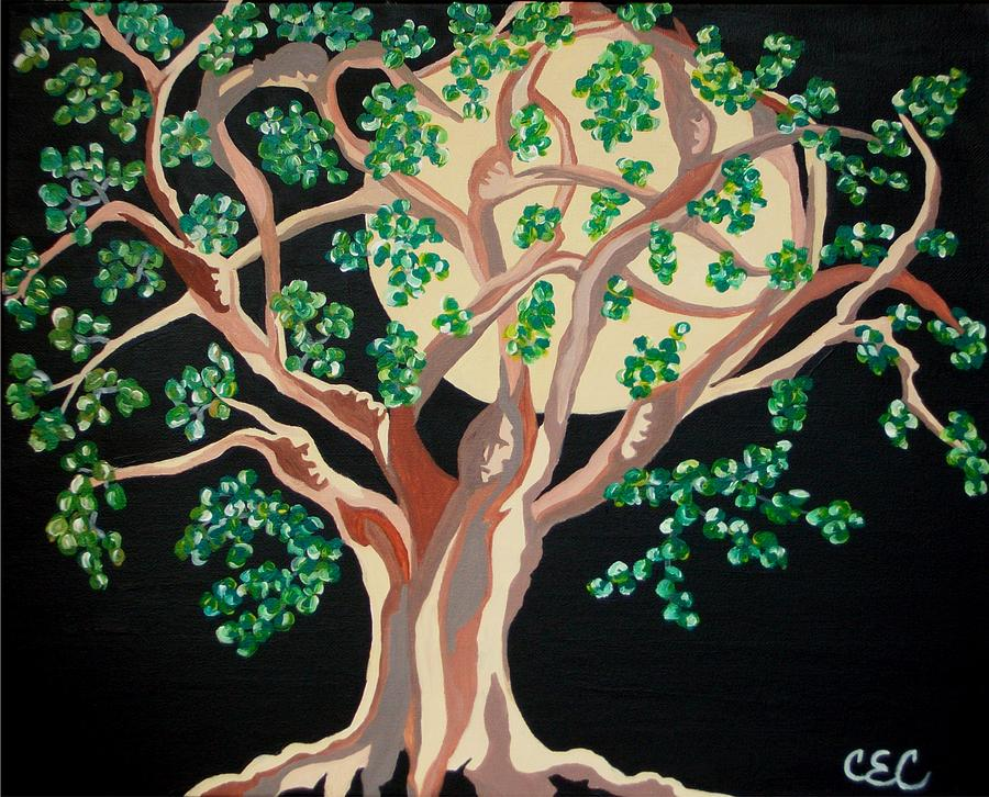 Family Tree Painting By Carolyn Cable