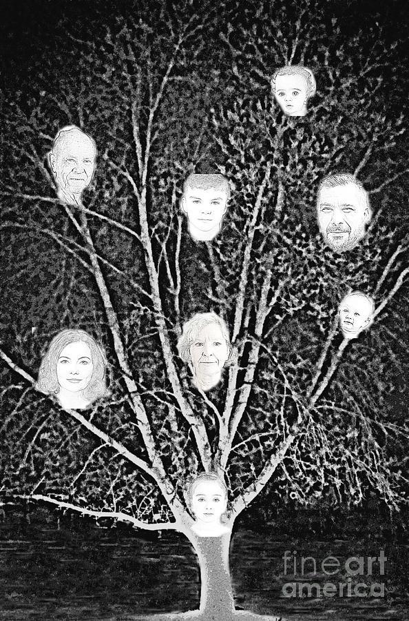 Family Tree Digital Art - Family Tree by Diamante Lavendar