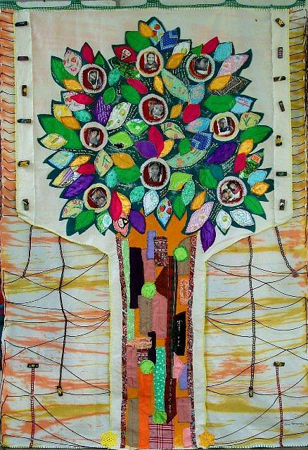 Tapestry Tapestry - Textile - Family Tree by Lorna Diwata Fernandez