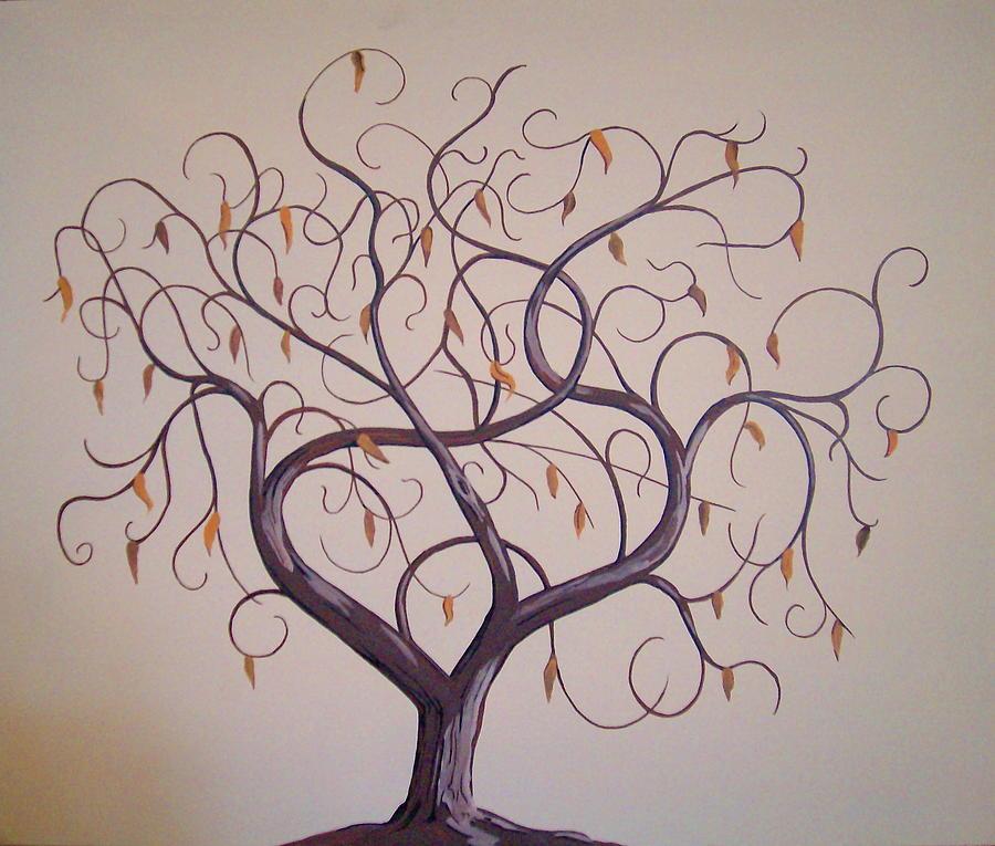 Family Tree Tree Painting by David  Larcom