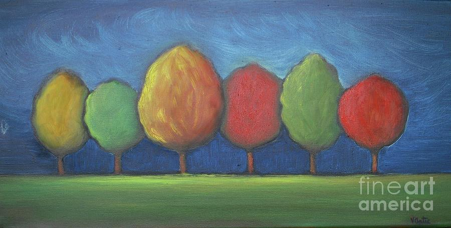 Landscape Painting - Family Trees by Vesna Antic