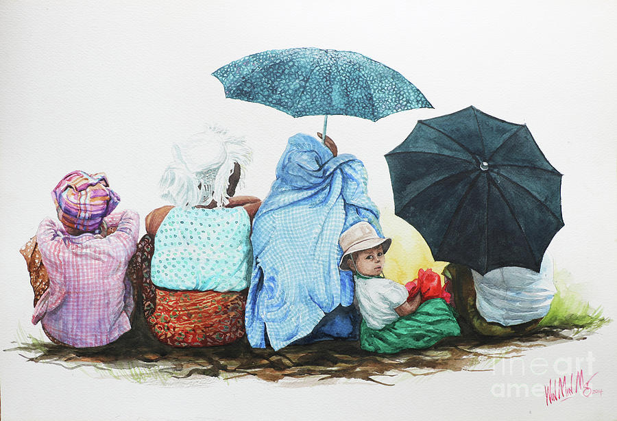 Landscape Painting - Family by Win Min Mg