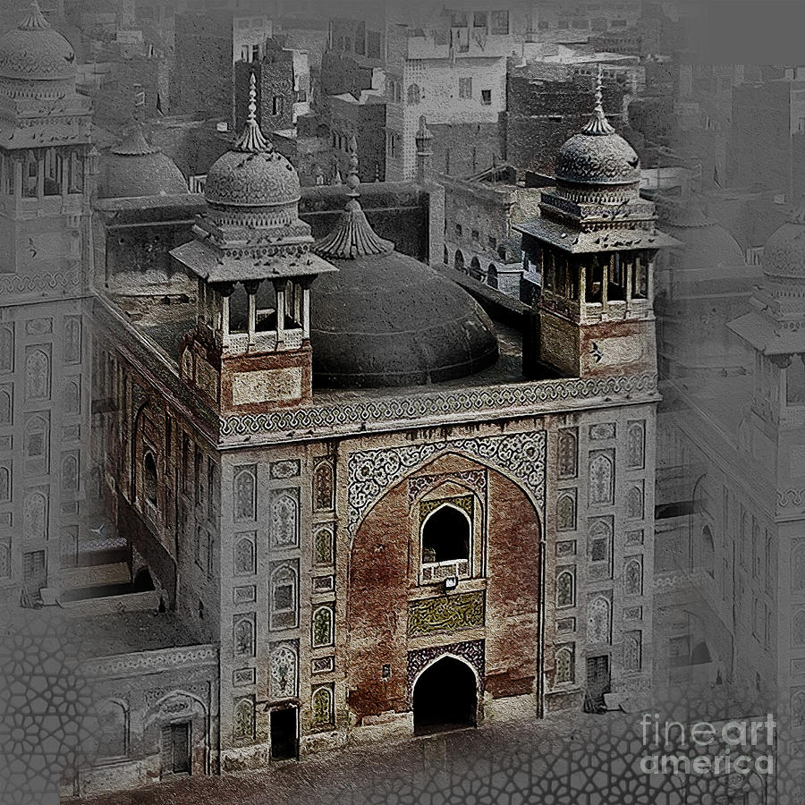 Famous Old Building Of Lahore Pakistan 004 Painting By Gull G