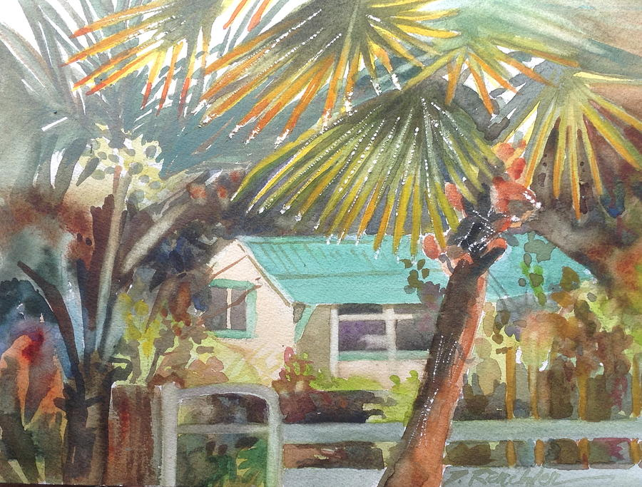 Tropical Painting - Fan Palm by Diane Renchler