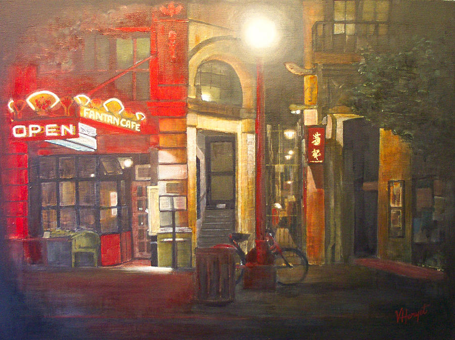 Chinatown Painting - Fan Tan Alley by Victoria Heryet