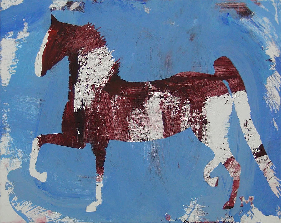 Horse Painting - Fancy Trotter by Candace Shrope