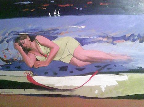 Painting Painting - Fanciulla Del Paradiso Sotto Il Mare  Fanciulla Del Paradise Under The Sea by Mahmoud Menaysy