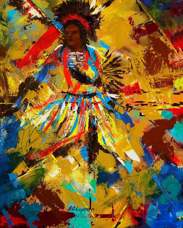 Native American Indian Dancer Painting - Fancy Dancer by Brooke Lyman