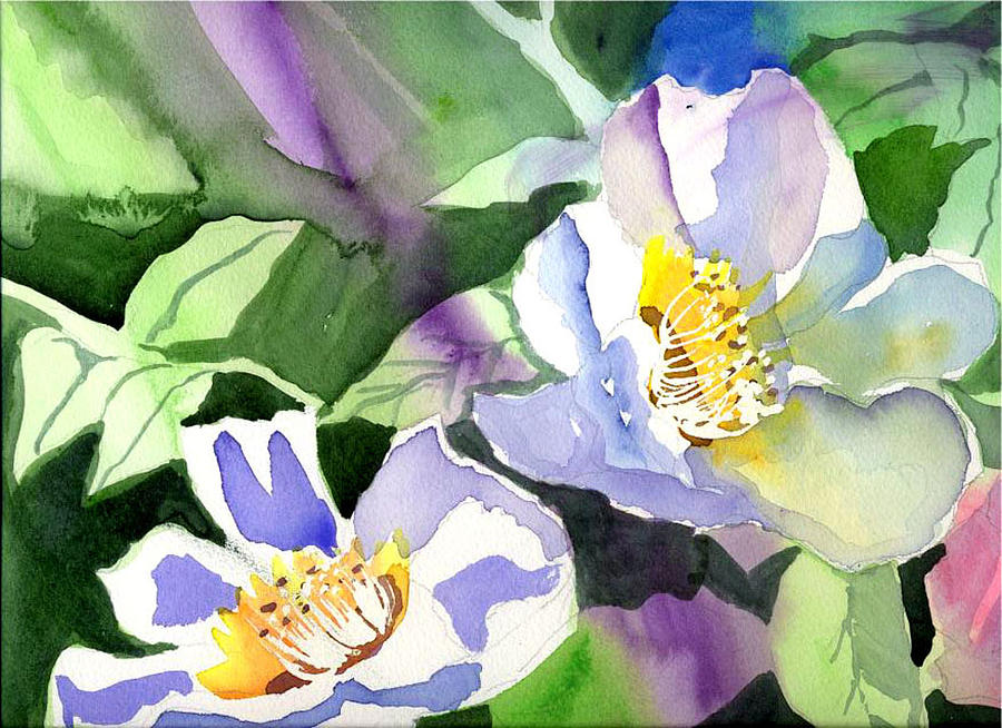 Floral Painting - Fancy Flowers by Janet Doggett