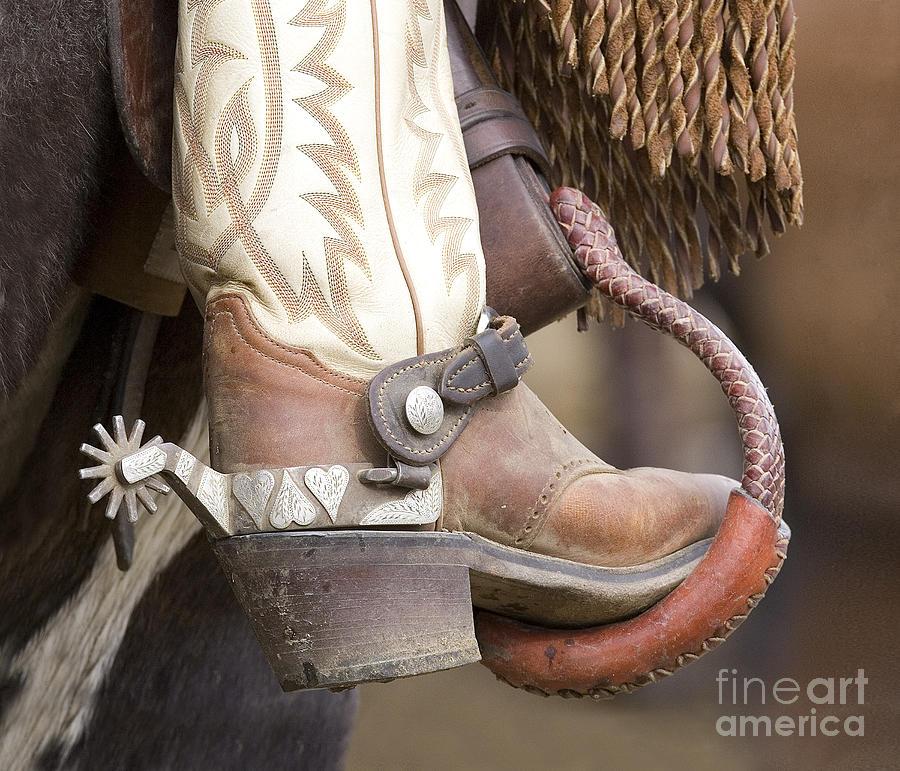 Cowboy Photograph - Fancy Foot by Carol Walker