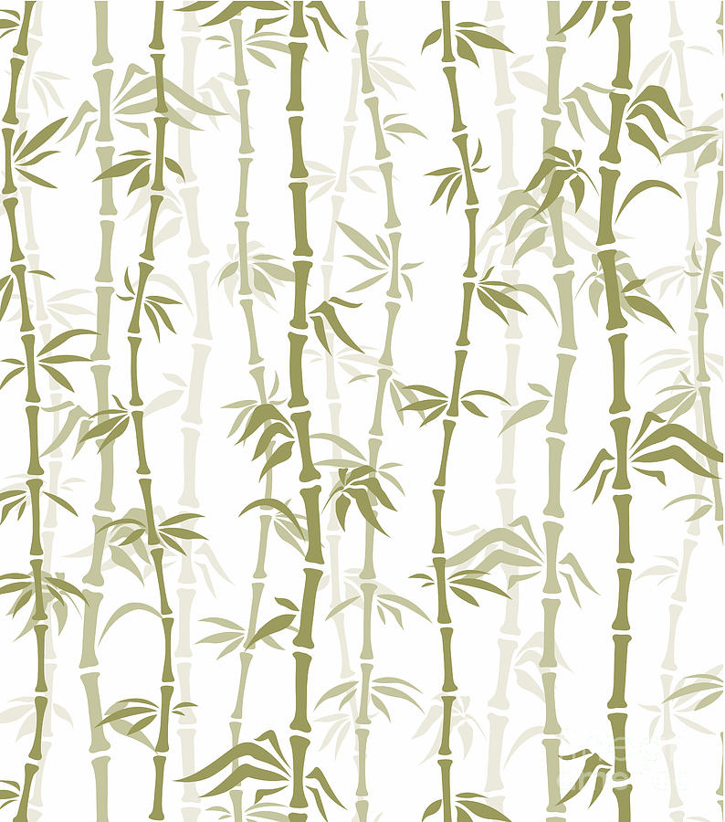 Bamboo Forest Mixed Media - Fancy Japanese Bamboo Watercolor Painting by Heinz G Mielke
