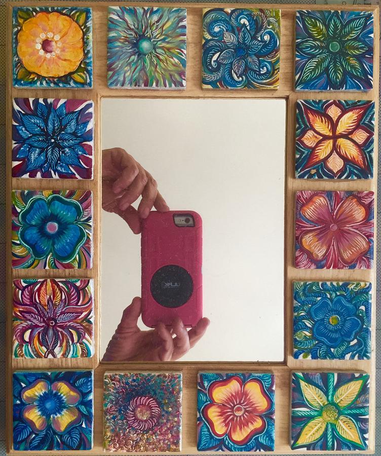 Unique Painting - Fancy Mirror Frame by Karen Doyle
