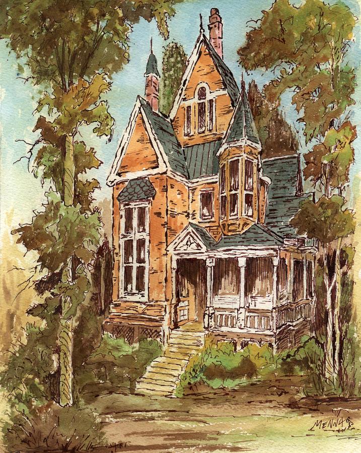 Victorians Mixed Media - Fancy Old House 32 by Aurelio Menna