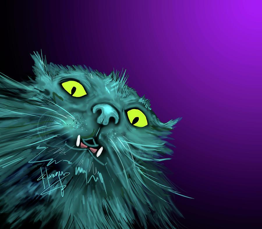 Fang Painting - Fang Dizzycat by DC Langer