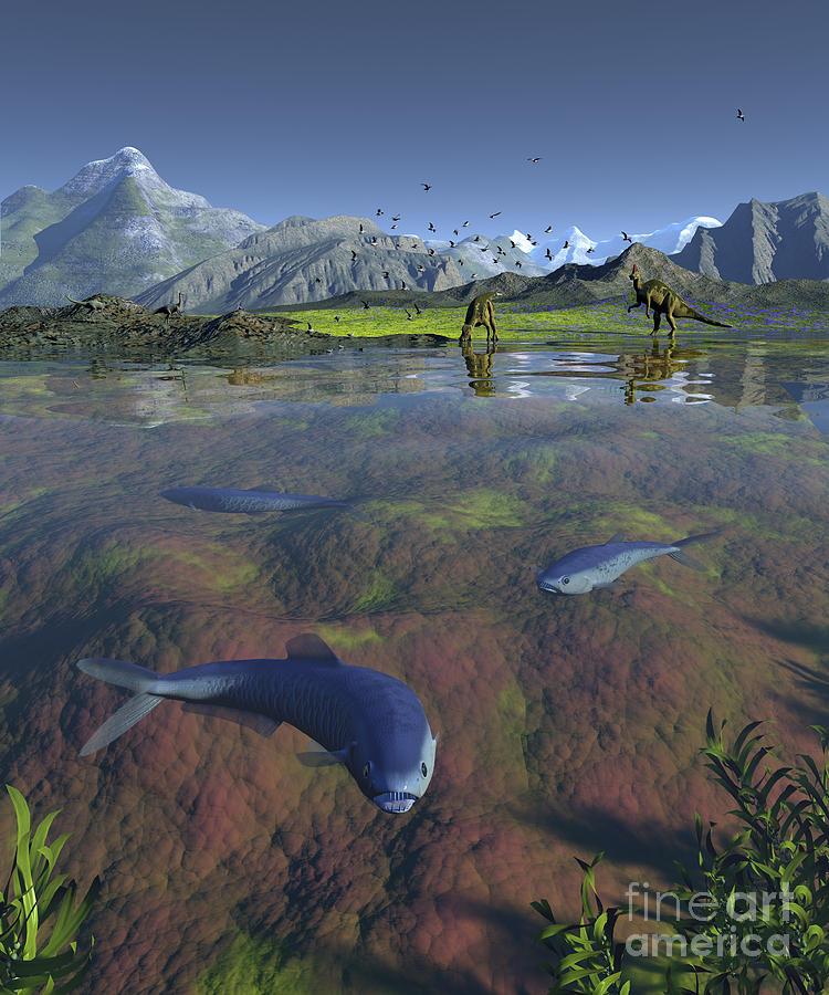 Earth Digital Art - Fanged Enchodus Predatory Fish by Walter Myers