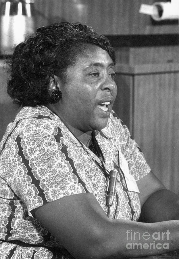 1964 Photograph - Fannie Lou Hamer (1917-1977) by Granger
