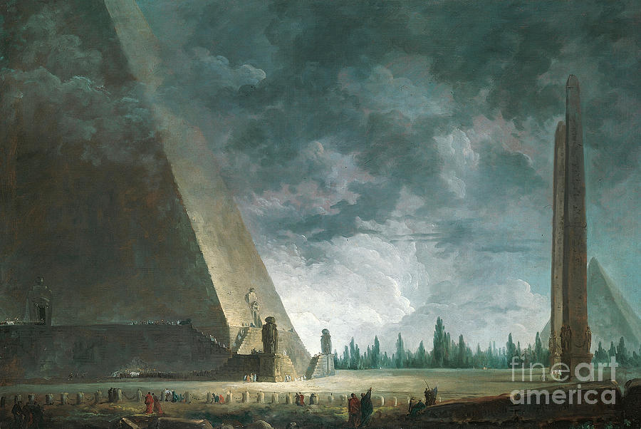 Egypt Painting - Fantaisie Egyptienne by Hubert Robert