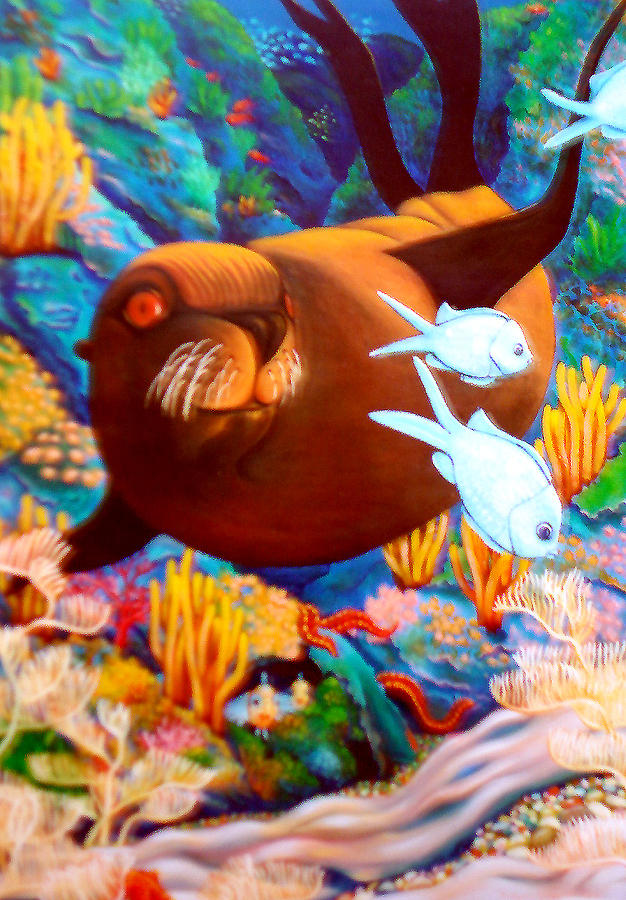 Fish Painting - Fantasea by Barbara Stirrup