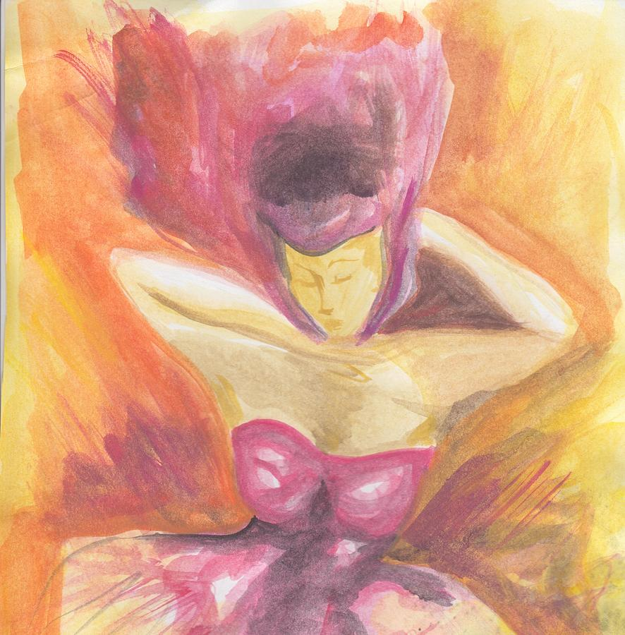 Feminine Painting - Fantasia De Mujer by Ivonne Sequera