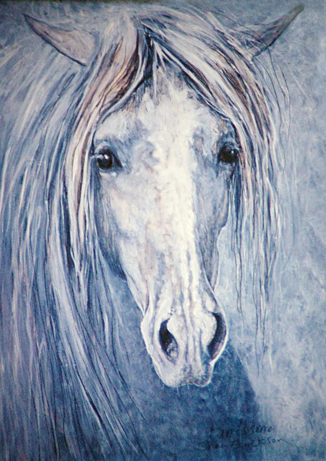 Horse Painting - Fantasma by Shari Erickson
