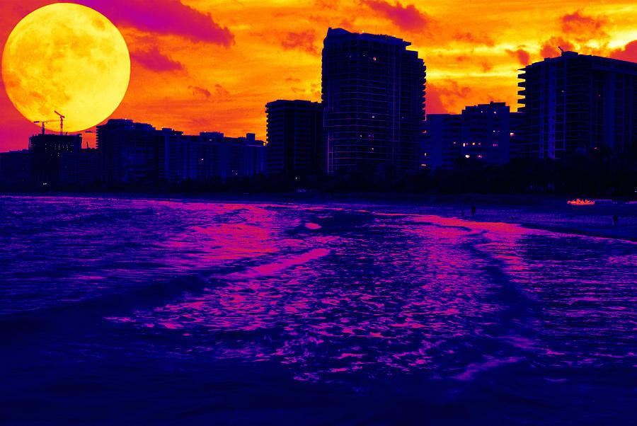 Moon Photo Photograph - Fantastic Colors by Jose Mena