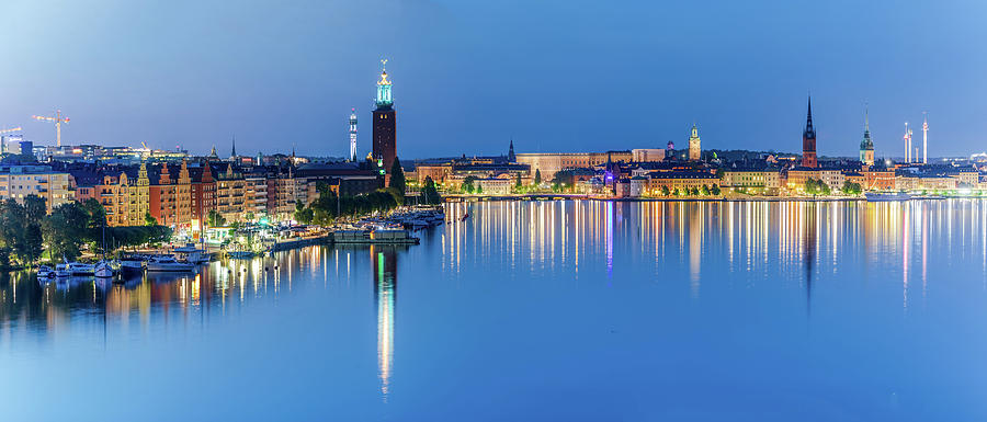 Stockholm Photograph - Fantastic Stockholm and Gamla Stan reflection from a distant bridge by Dejan Kostic