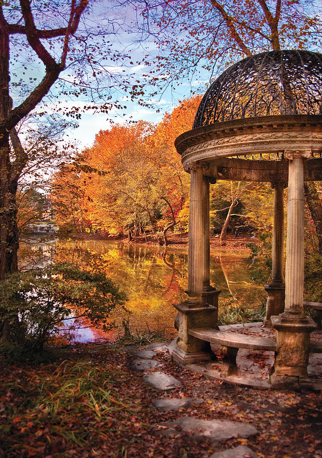 Savad Photograph - Fantasy - The Temple by Mike Savad