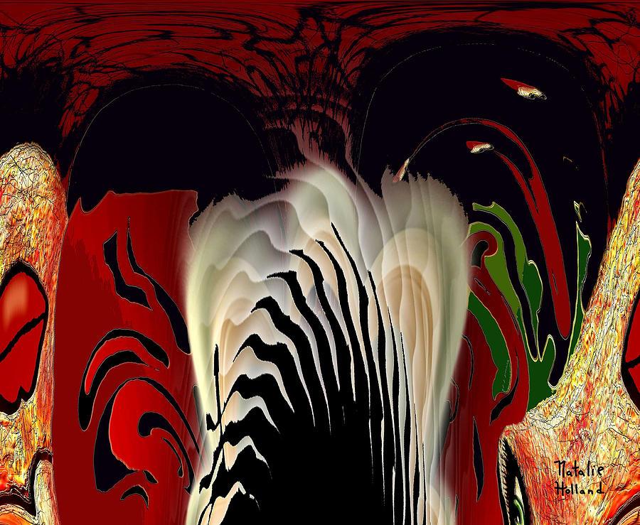 Abstract Mixed Media - Fantasy Abstract by Natalie Holland