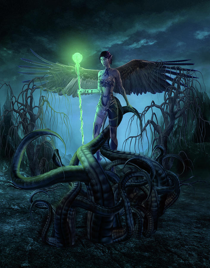 Fantasy Character Digital Art - Fantasy Creatures 3 by Barroa Artworks