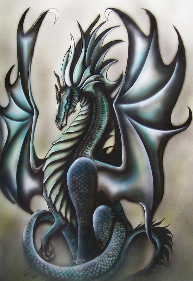Dragon Painting - Fantasy Dragon by Melinda Fox