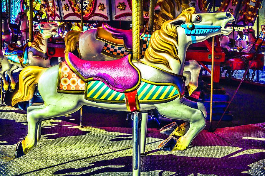 Horse Photograph - Fantasy Fair Horse Ride by Garry Gay