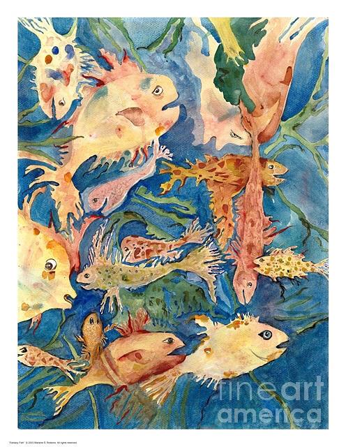 Fish Painting - Fantasy Fish by Marlene Robbins