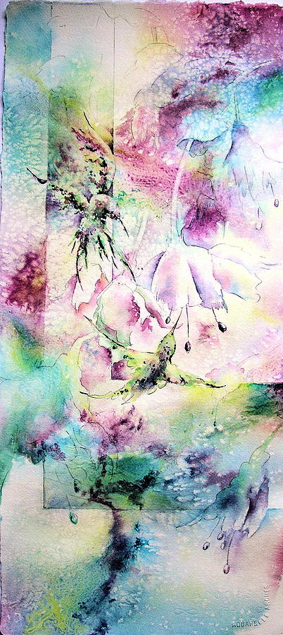 Humming Birds Painting - Fantasy Flight by Julie Schroeder