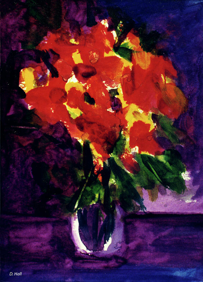 Abstract Painting - Fantasy Flowers  #107, by Donald k Hall