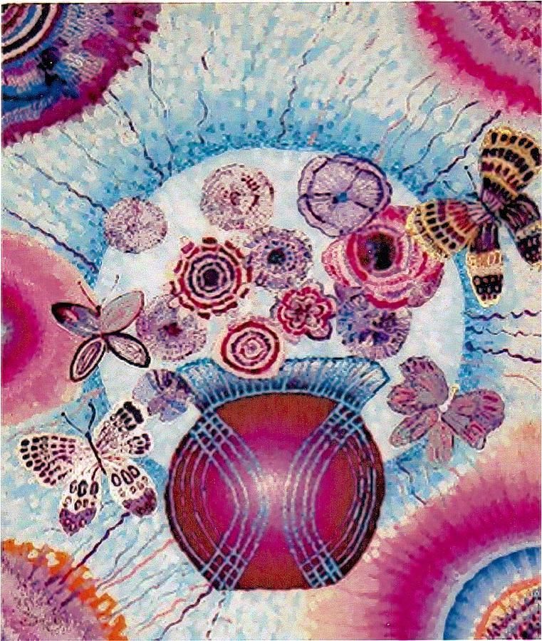 Flowers Painting - Fantasy Flowers by Brenda Adams