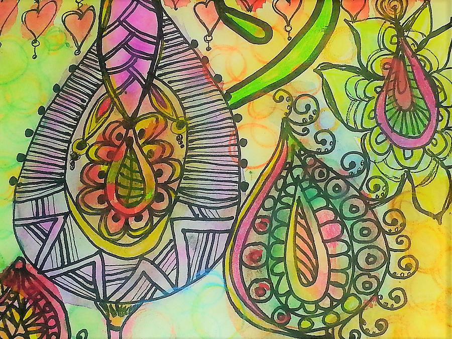Fantasy Flowers Drawing by Jan Pellizzer