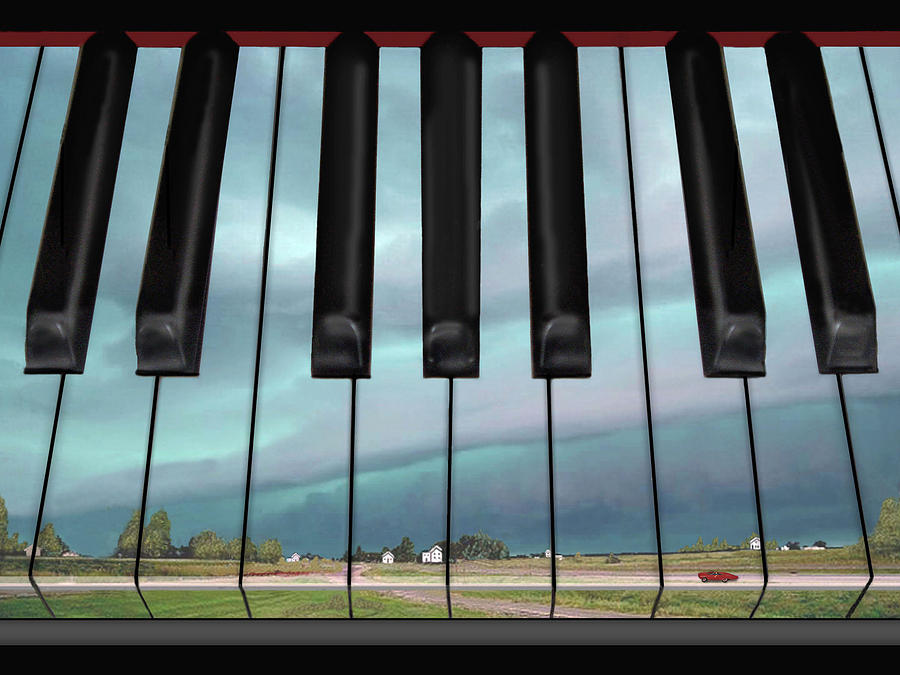 Piano Digital Art - Fantasy In D by Don McAfee
