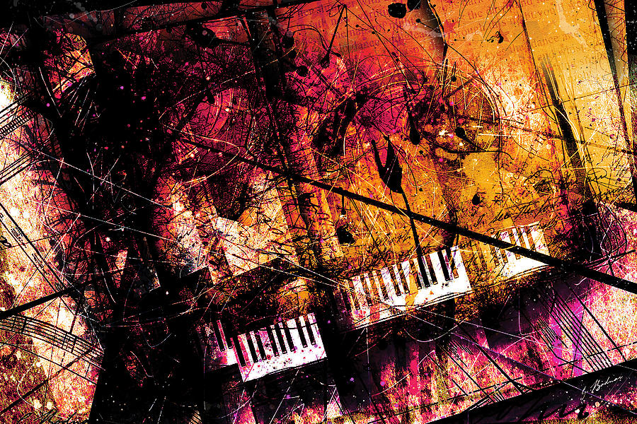 Piano Digital Art - Fantasy In F Major by Gary Bodnar